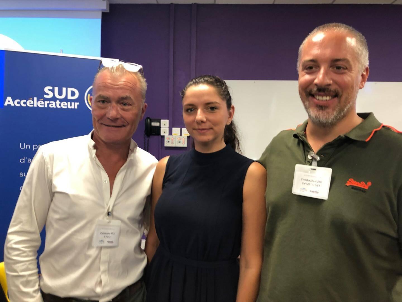 JC Mat, Horus Pharma et Envoi du Net, les Azuréens de la promotion 3 de Sud Accélérateur.