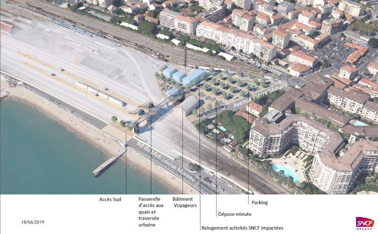 La future gare de Cannes La Bocca ? Il s'agit en tout cas  de la variante «Pierre-Sémard».