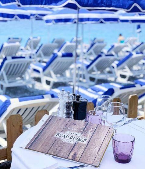 La plage Beau Rivage, sur la Promenade des Anglais à Nice.