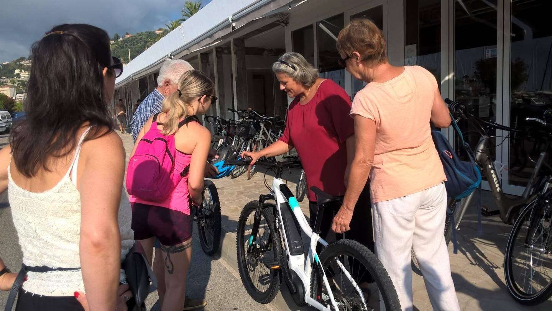 Les vélos étaient mis à disposition par la société RBike Menton.