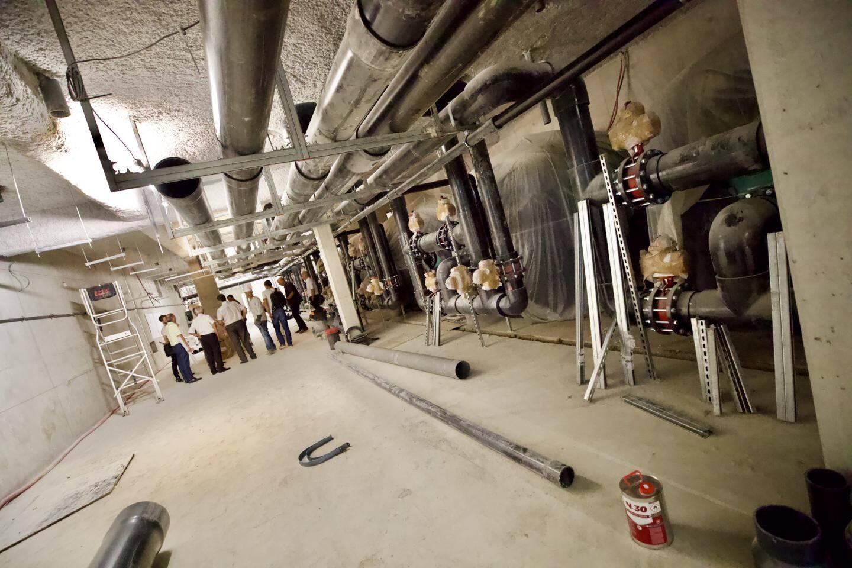 Les parties souterraines du chantier du stade nautique.