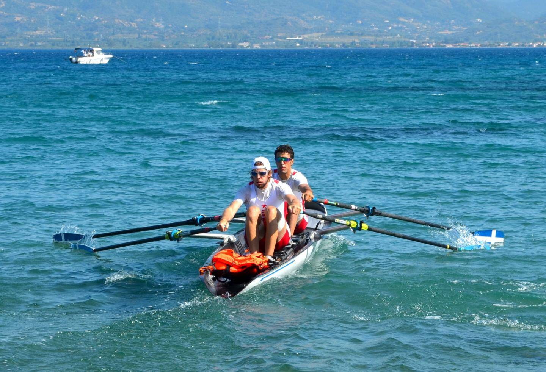 Le double hommes monégasque en action sur le plan d'eau de Hera.