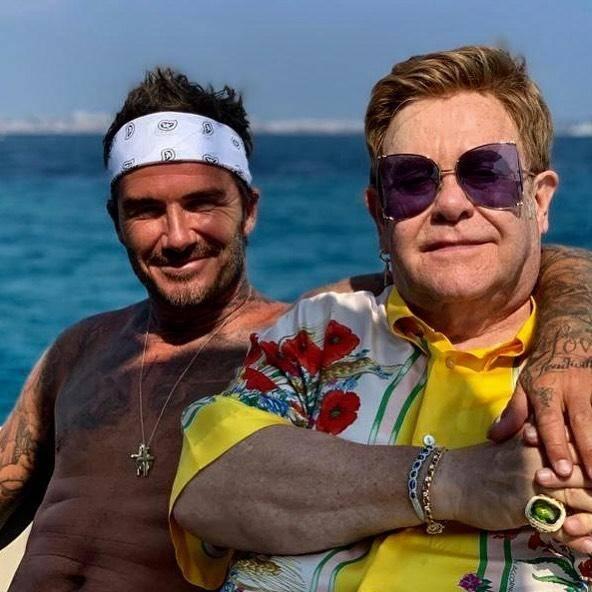 David Beckham et Elton John.