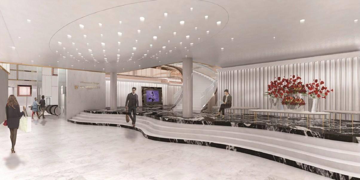 Le futur hall d'entrée.
