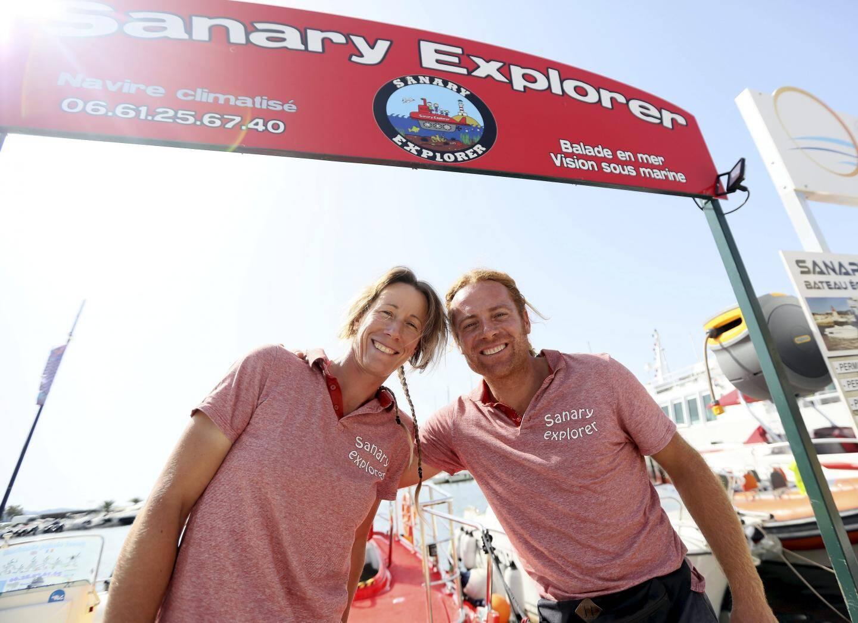 Lydie Pierron et Sylvain Zind vous accueillent sur le port de Sanary.