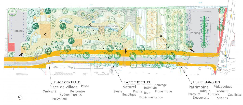 La coulée verte étagée entre le boulevard Pagnol et le chemin du Jaquon.