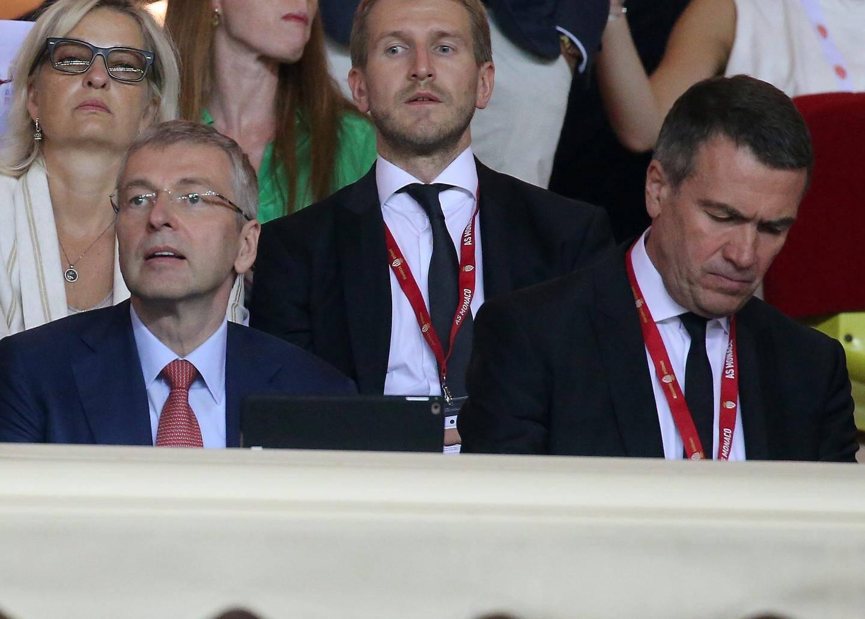 Le président de l'ASM Dmitri Rybolovlev et son vice president Oleg Petrov