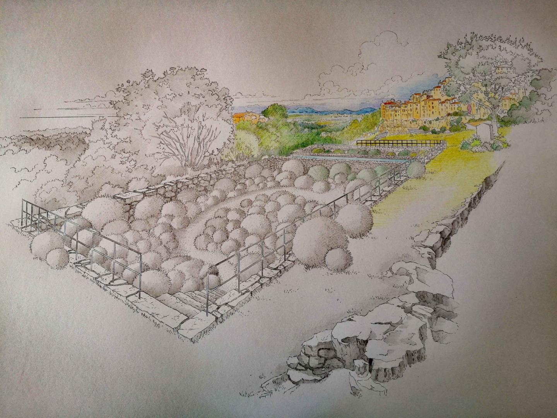 Le projet d'entrée ouest du village qui sera, notamment, végétalisée.