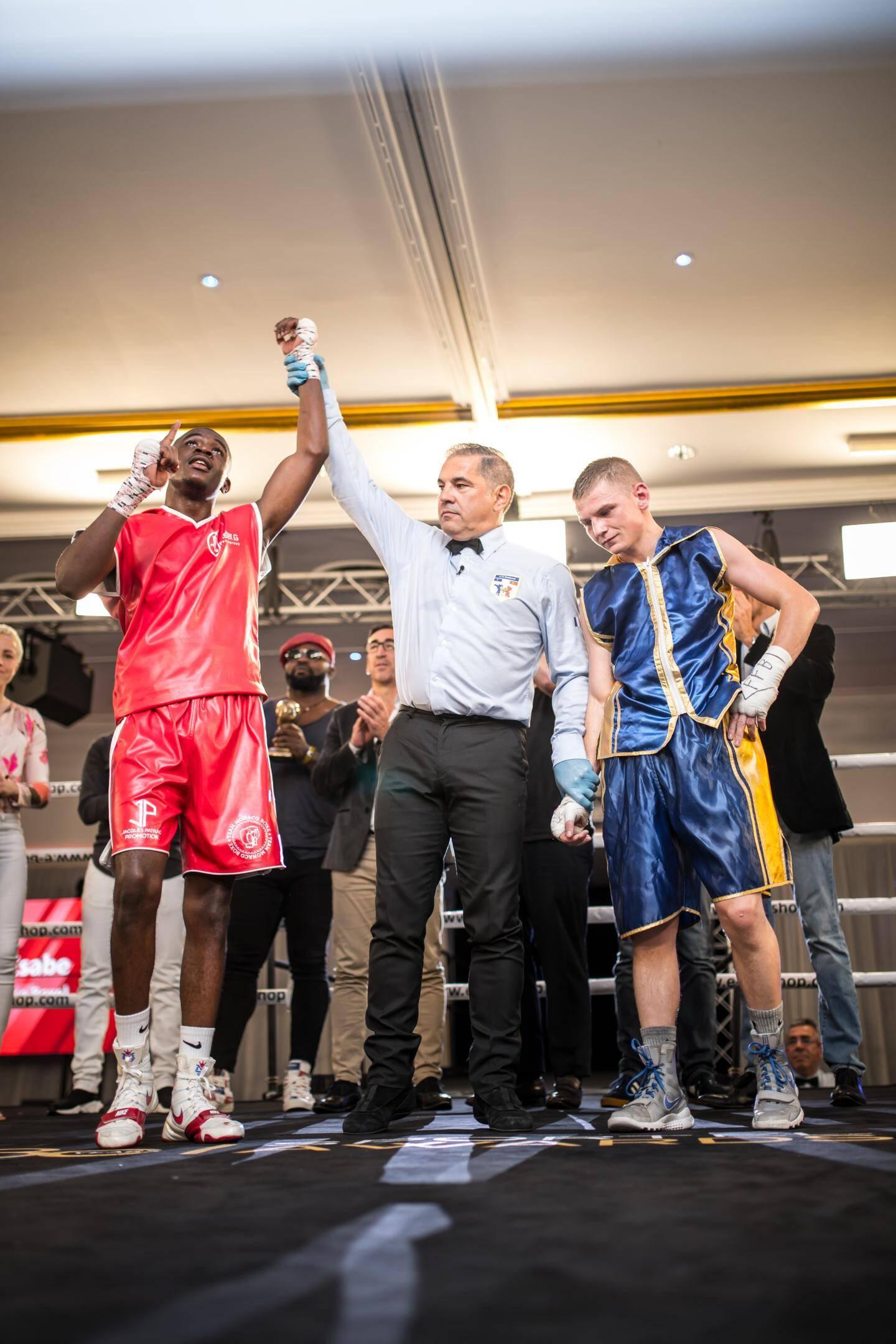 Christ Esabe, boxeur de la Team Monaco Boxe, a raflé le titre de champion de France chez les poids plumes.(DR)