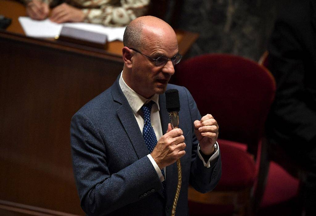 Le ministre de l'Education Jean-Michel Blanquer à l'Assemblée nationale, le 15 octobre 2019 à Paris