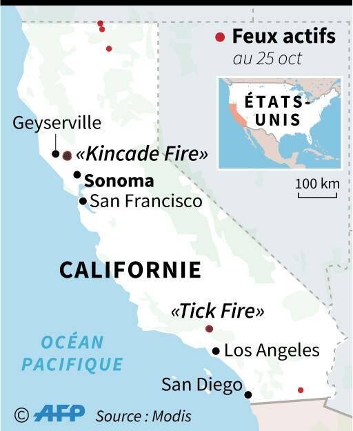 Feux en Californie