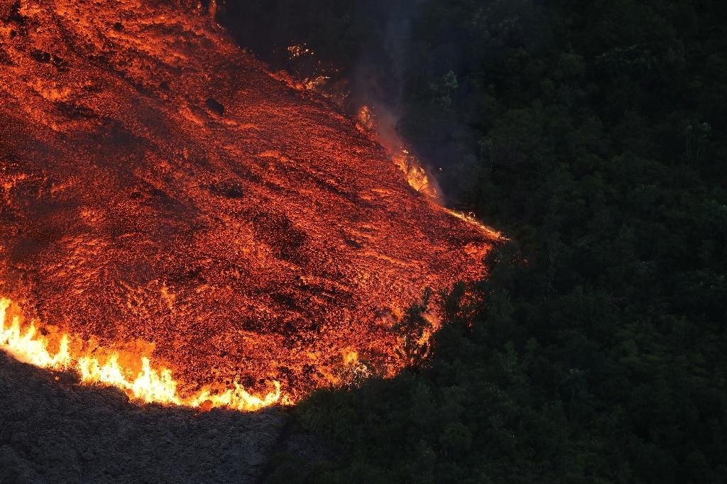 Eruption du volcan de La Réunion, le Piton de la Fournaise, le 25 octobre 2019