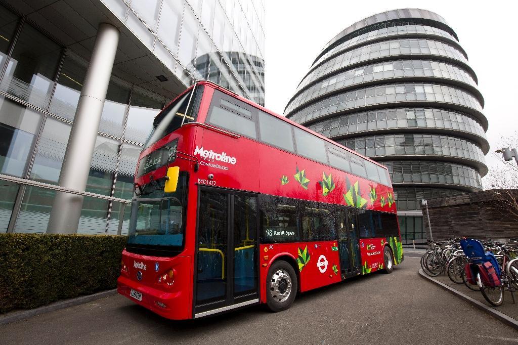 Balades en bus à impériale londoniens compromises pour les voyages sc olaires, photo prise à Londres, le 15 mars 2016