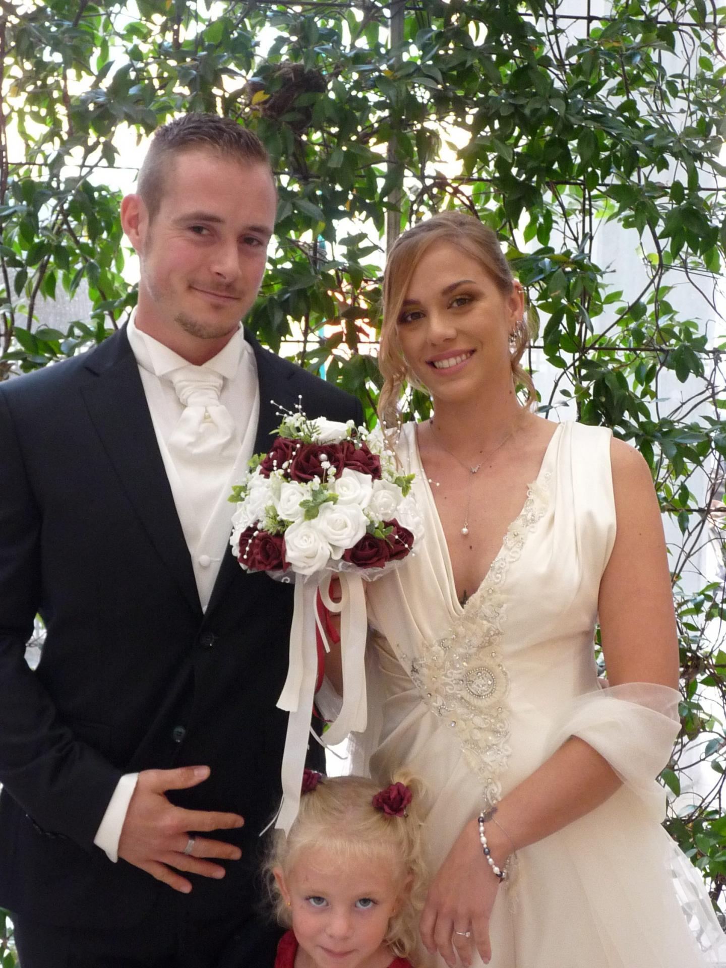 Christopher Grimal, marchandiseur et Tatiana Lange, hôtesse de caisses.