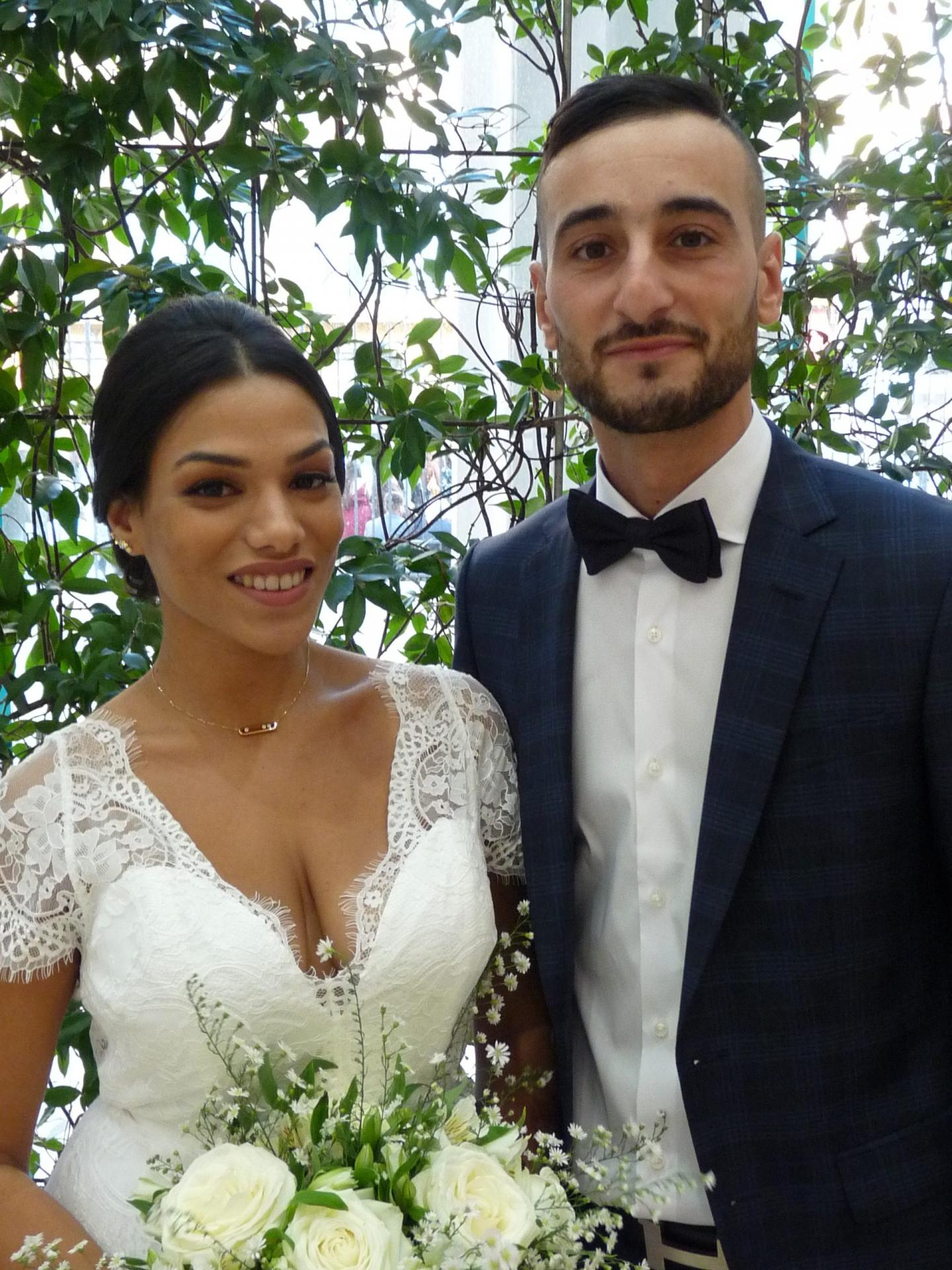 Imène El-Amami, infirmière et Djémil Yaiche, décorateur évènementiel.