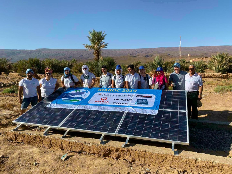 Les étudiants du CFPPA ont également installé des panneaux solaires dans le village.