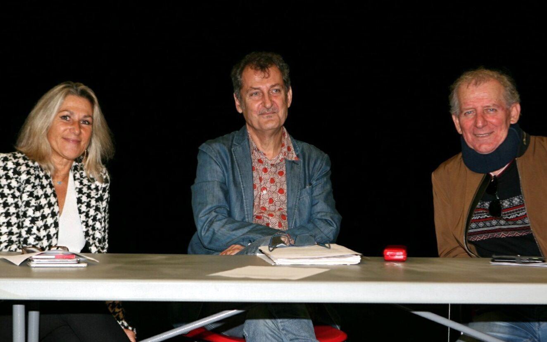 De gauche à droite, Isabelle Garnier, directrice de Tisot, Thierry Kriegel, directeur Culture et patrimoine, et Jean-Louis Andréani, directeur de la programmation.