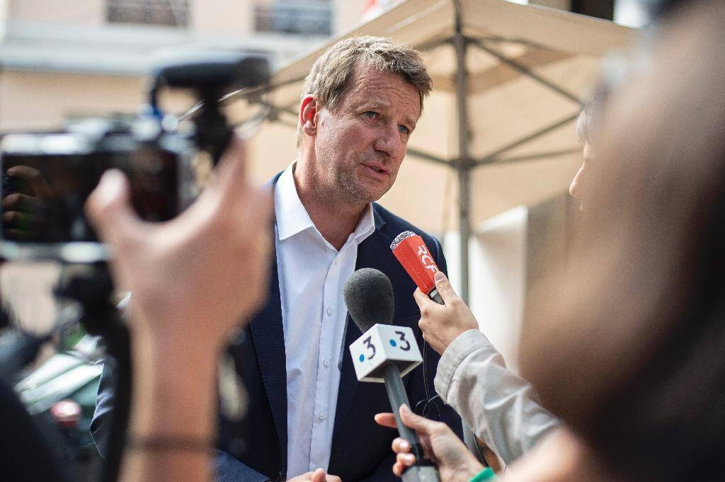 Yannick Jadot lors d'une conférence de presse à Lyon, le 5 septembre 2019