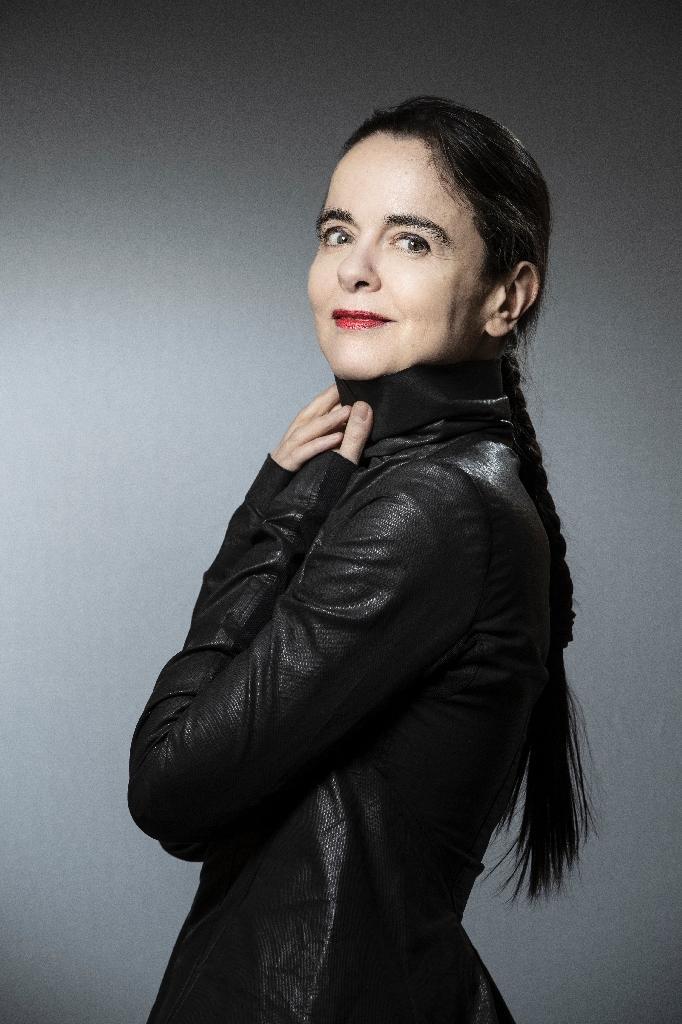 La romancière belge Amélie Nothomb, le 30 jnanvier 2019 à Paris
