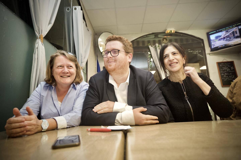 Cécile Dumas, Arnaud Delcasse et Nora Choubane, ce mercredi 27 novembre à Antibes.