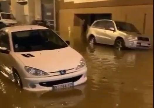 Le quartier Jean Bouin à Nice, sous les eaux