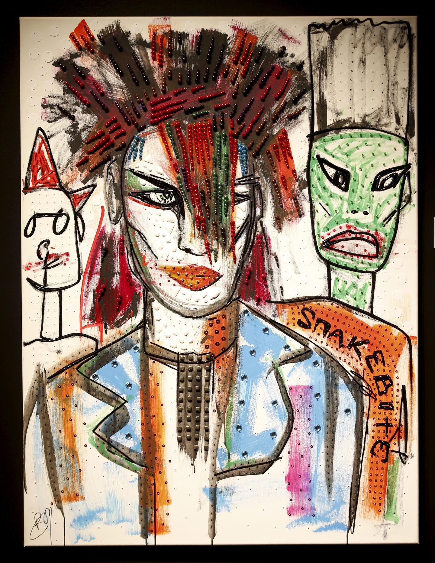 Parmi les portraits peints par Boy George, Prince ou encore David Bowie.