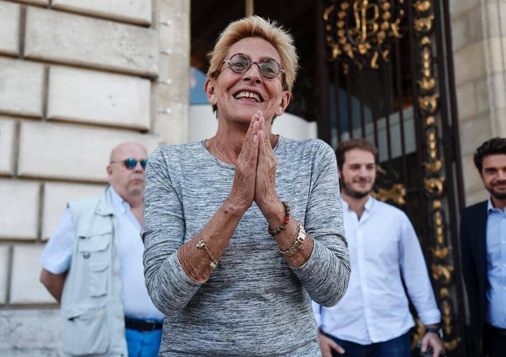 Isabelle Balkany devant la mairie de Levallois-Perret, le 14 septembre 2019