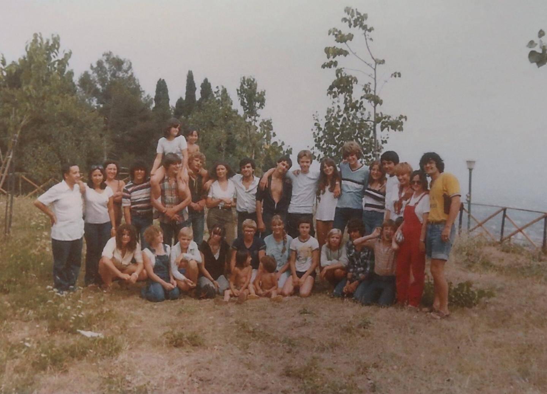 Les mêmes, quarante ans plus tôt lors de leur séjour en Sicile: ils n'ont quasiment pas vieilli!