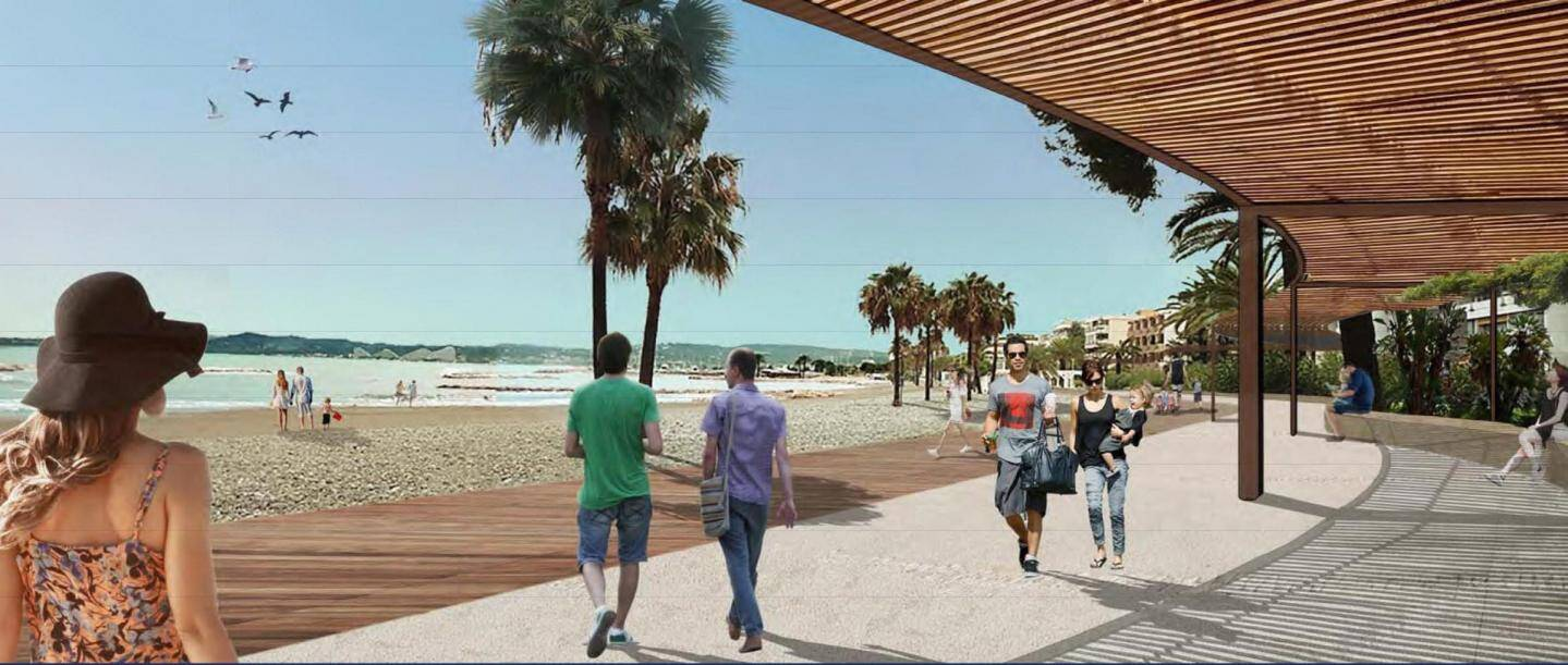 La promenade Landsberg sera réaménagée avec, notamment, du bois au sol et une pergola.
