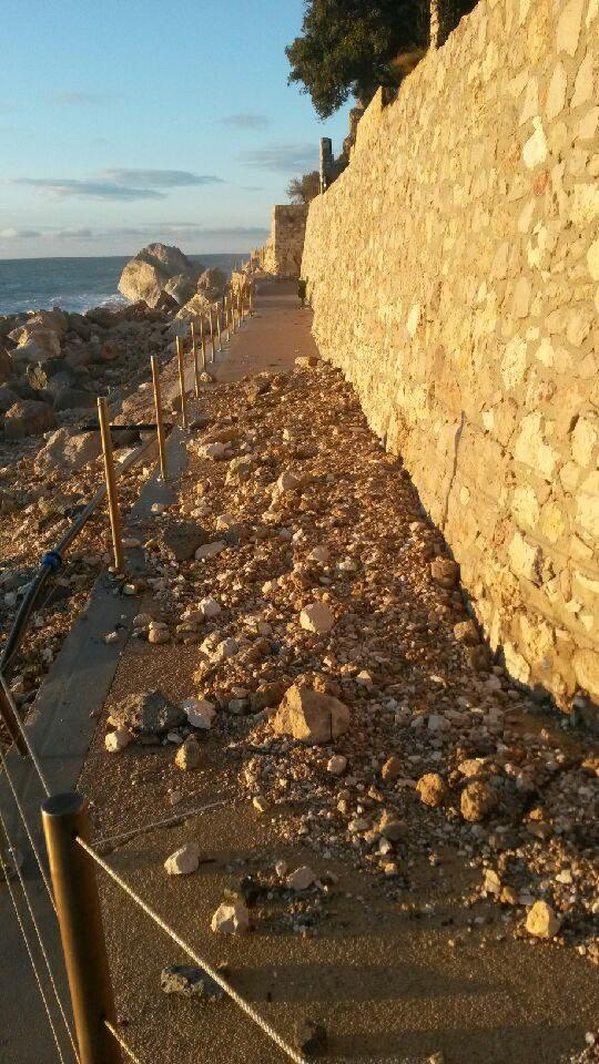Le sentier du littoral sera fermé au moins jusqu'à mardi.(DR)