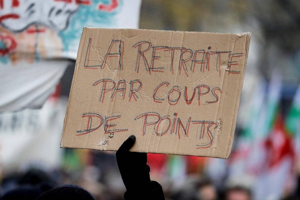À Paris, manifestation contre la réforme des retraites, le 5 décembre 2019