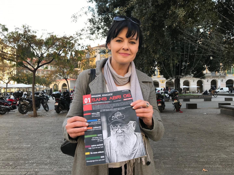 """Tanja: """"Ce magazine c'est un petit pas vers une réinsertion pour les sans abri."""""""