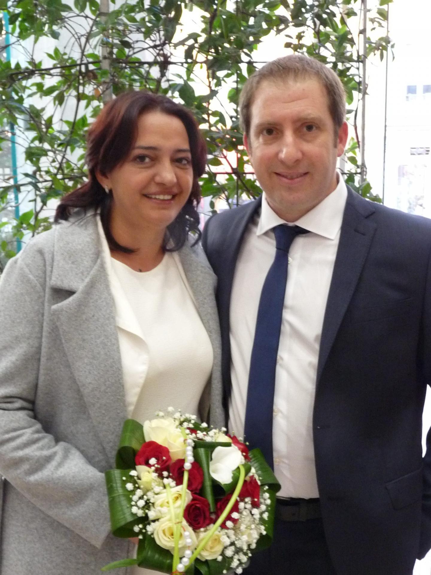 Stefania-Alina Tudor, employée de cuisine, et Mario Strano, commercial.