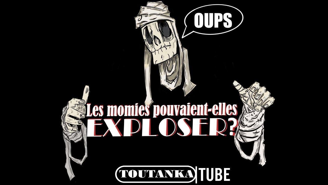 La première vidéo de la chaîne s'est attaquée à un thème surprenant : « Les momies pouvaient-elles exploser ? » (capture écran Youtube)