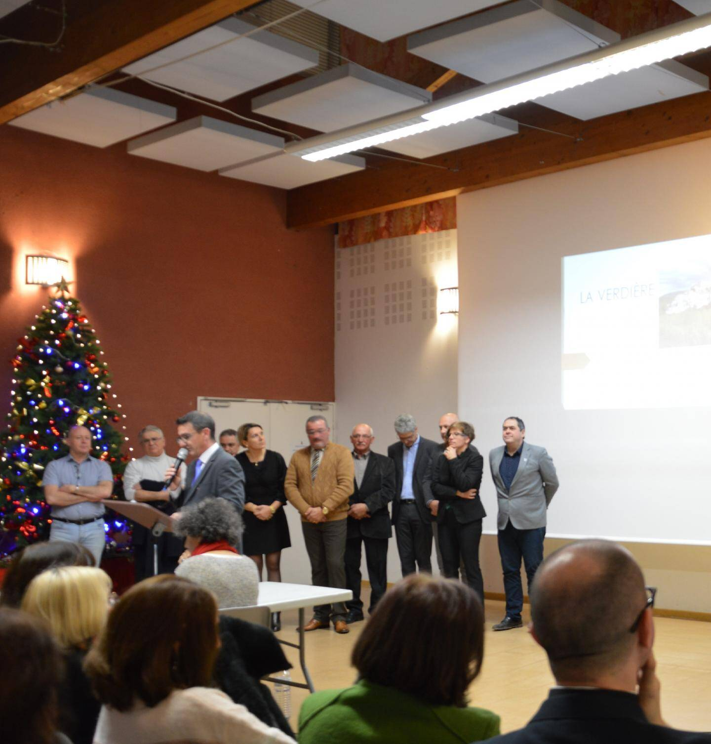 Hervé Chatard, soutenu par son conseil municipal, a présenté ses vœux.
