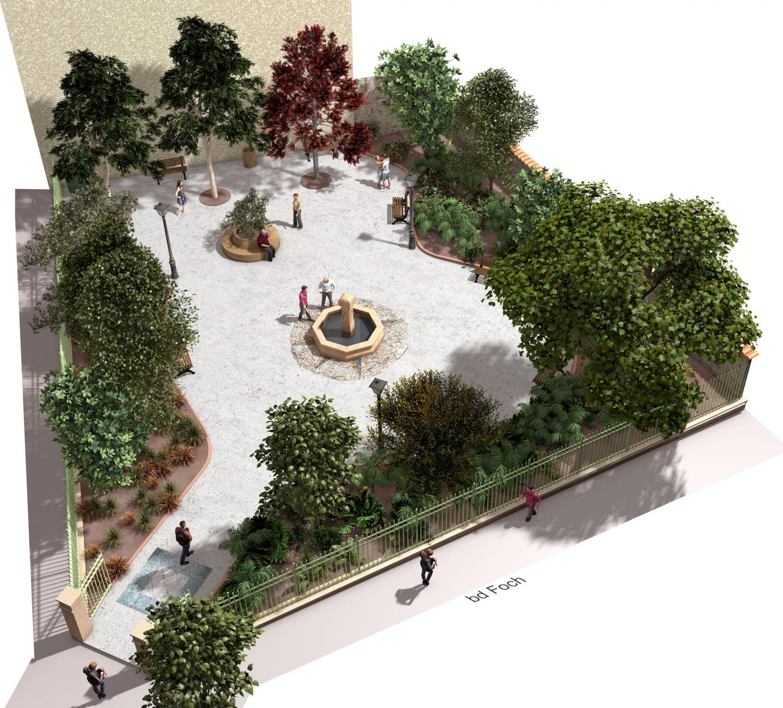 Le futur jardin, au 17 boulevard Foch, sera complanté avec arbustes, arbres, plantes vivaces, etc.