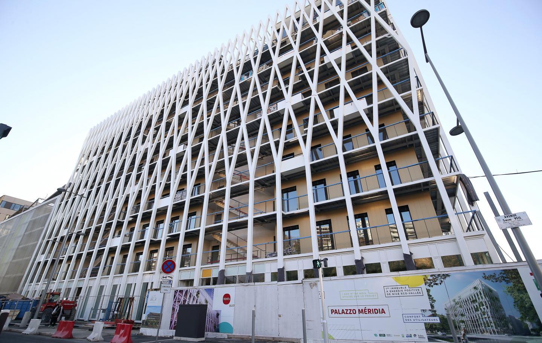 Le Palazzo Meridia, plus grand immeuble de bureaux d'Europe en bois.