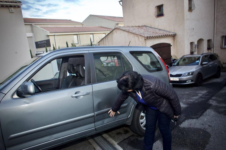 Un client de Polygone a mis de violents coups de pied dans la voiture d'Edwige Mas, après qu'elle lui a dit de ne pas se garer sur sa place privée.