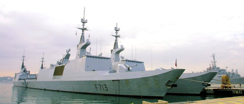 Le Surcouf est identique à l'Aconit (notre photo) et fait partie des cinq frégates furtives de type La Fayette dont dispose la Marine nationale.