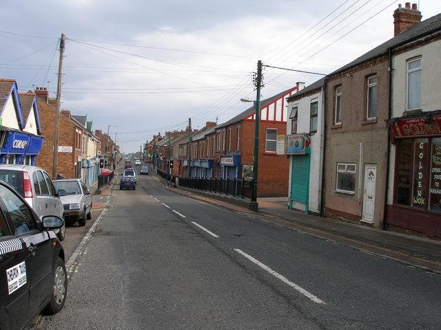 La rue principale de Blackhall Colliery.
