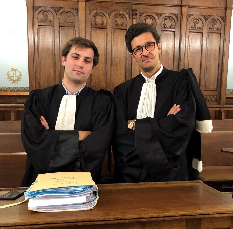 Me Étienne Arnaud, du barreau de Paris (à gauche) et l'avocat monégasque Hervé Campana réfléchissent à un éventuel appel de la décision.