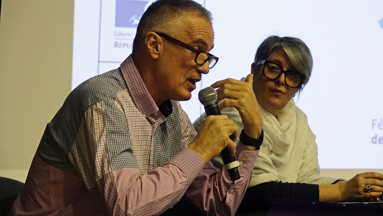 Le témoignage de Christian Zedet avec, à ses côtés, Lætitia Pachoud de l'association Colosse aux pieds d'argile.