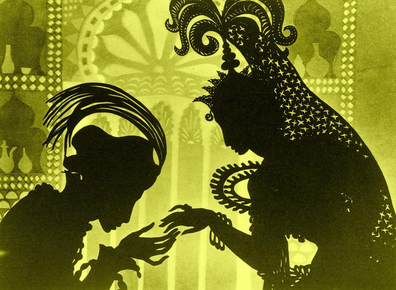 Le film est réalisé à partir de photographies de silhouettes de papier découpées.