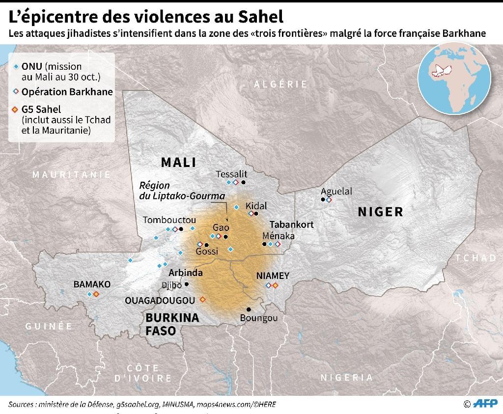 L'épicentre des violences au Sahel.