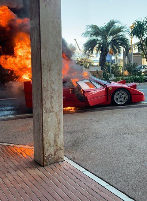 La F40 de Ferrari est un modèle extrêmement rare.