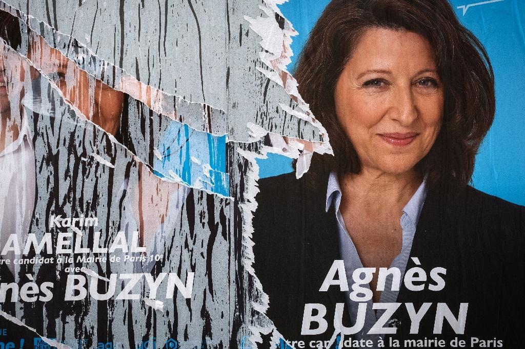 Affiche électorale d'Agnès Buzyn le 14 mars 2020 à Paris