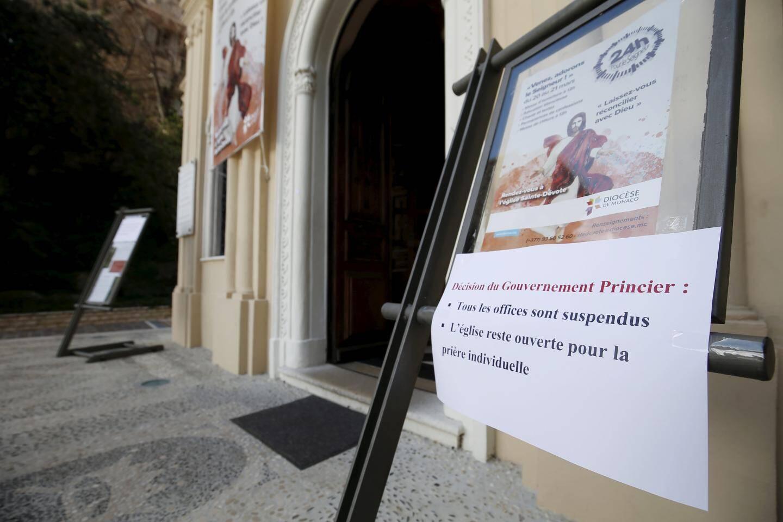 Pas de messes en vrai, ce dimanche à Monaco; seulement sur Internet pour la paroisse de Sainte-Dévote.