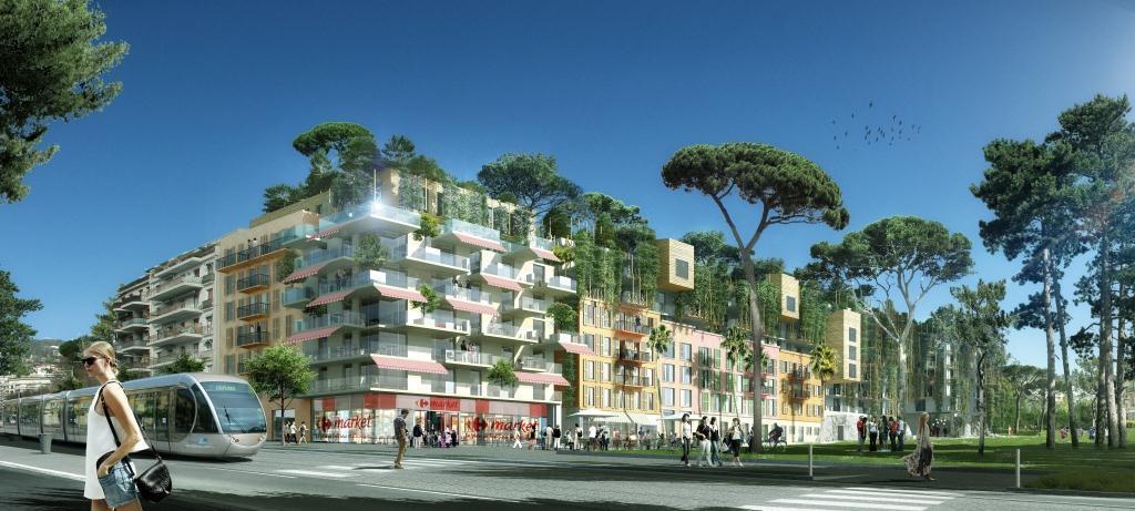 En lieu et place de l'ancien stade, le projet immobilier du Ray démontrent à travers sa conception que les préoccupations des promoteurs se tournent désormais vers la mixité urbaine urbaine et sociale. Avec une dimension écologique omniprésente.