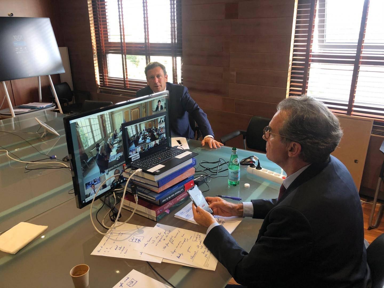 François de Canson assistait  jeudi, en direct de Marseille avec Renaud Muselier, au comité interministériel du tourisme vidéo présidé par le Premier ministre.