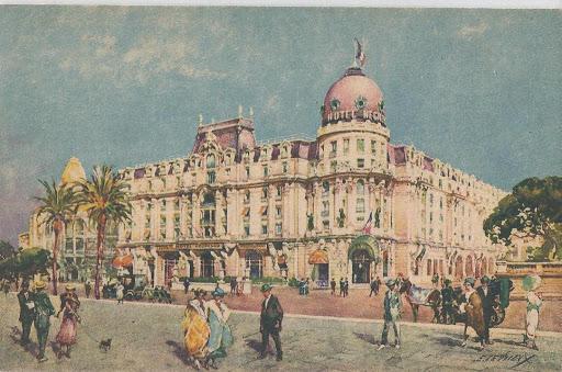 Le Negresco au début du XXe siècle, joyau de la promenade des Anglais.